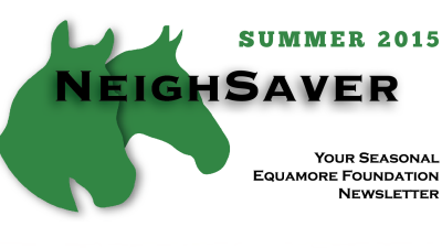Summer 2015 - Neigh Saver Title banner